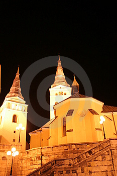 Church in the night Stock Photography