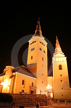 Church in the night 1 Royalty Free Stock Photo