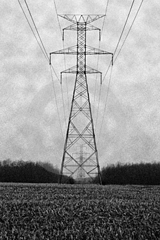 Row Of Pylons Stock Images