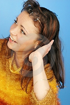 Woman  Smilling Free Stock Photo