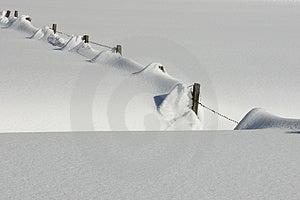 Austria - Snowy Fence Stock Image