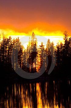 Underbar solnedgång Royaltyfri Foto