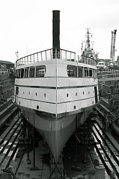 Shipyard Restoration Stock Images