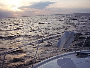 Sunset On The Boat Free Stock Image
