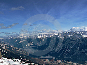 Гора в снежке Стоковое Изображение RF