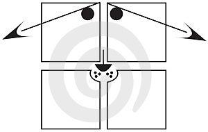 VIERKANTEN - Droevige Hond Stock Afbeelding