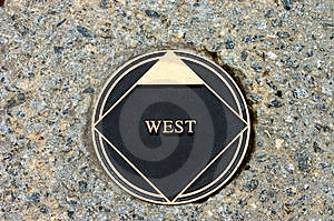 West marker Royalty Free Stock Images