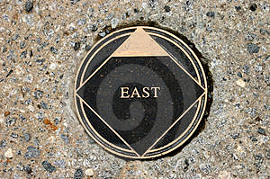 East marker Stock Image