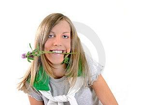 Ecologic flicka Arkivfoton