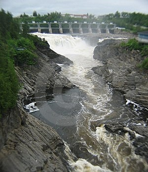 Grand Falls New Brunswick Canada Stock Photo