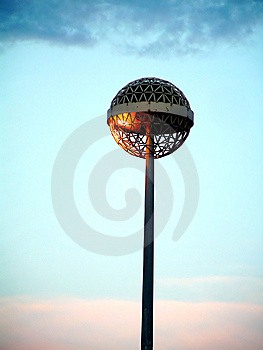 Afternoon's Lamp Free Stock Photography