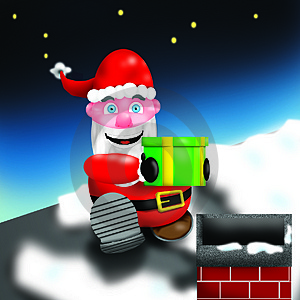 Santa Chimney Photos libres de droits