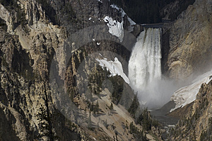 Waterval in Yellowstone Stock Afbeeldingen