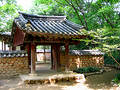 Entrance to a traditional Korean garden