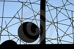 Shapes In Front Of A Window Stock Images - Image: 1401264
