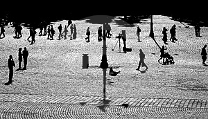 People In Backlighting Stock Image - Image: 1404281
