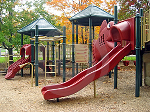 Playground in Fall 2 Royalty Free Stock Photos