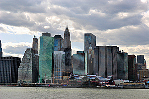 Lower Manhattan Skyline Free Stock Photography