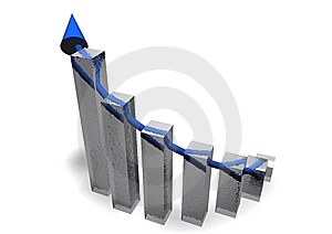 Business Chart With Arrow Royalty Free Stock Image - Image: 14003446
