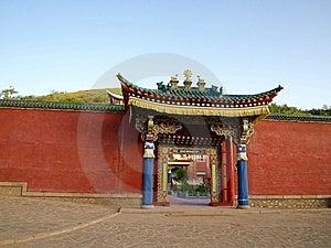 Temple Monks Bedroom Door Stock Images - Image: 14004884