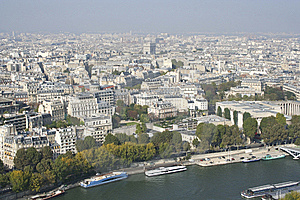 Paris Skyline From The Eiffel Tower, France Royalty Free Stock Images - Image: 14005809