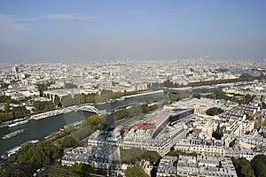 Paris And The Seine River Stock Photo - Image: 14005820