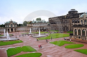 Cathedral And Castle In Dresden Royalty Free Stock Image - Image: 14006416