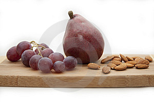 Pear, Grapes, Almonds Royalty Free Stock Image - Image: 14006726