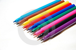 Color Pen Royalty Free Stock Photography - Image: 14007777