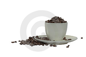 Cup Filled With Coffee Beans Stock Photos - Image: 14007883