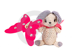 Knitted Toy Royalty Free Stock Photos - Image: 14007888