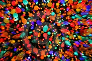 Zoom Blur Christmas Lights Royalty Free Stock Image - Image: 14008106