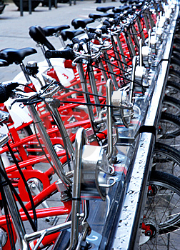 Bicycles Details Stock Photos - Image: 14012173
