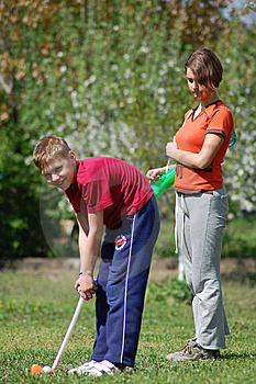 Children Playing Golf Stock Photography - Image: 14012922