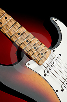 An Electric Guitar With A Dirty Worn Neck Royalty Free Stock Images - Image: 14014799