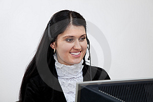 Call Center Operator Royalty Free Stock Images - Image: 14015029
