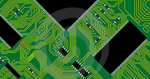 Green Circuit Board Illustration. Royalty Free Stock Images - Image: 14015539