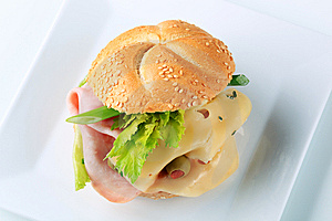 Ham And Cheese Sandwich Stock Images - Image: 14016464