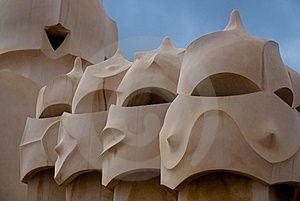 Casa Mila, Barcelona, Spain Stock Photos - Image: 14016903