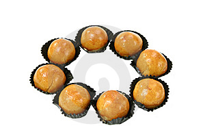 Round Pineapple Cake Royalty Free Stock Photos - Image: 14016978