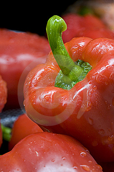 Close Up Of A Red Bell Pepper. Royalty Free Stock Photography - Image: 14017137