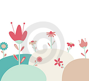 Abstract Floral Greeting Royalty Free Stock Photography - Image: 14021837