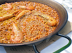 Valencian Authentic Shellfish Paella Royalty Free Stock Photo - Image: 14022545