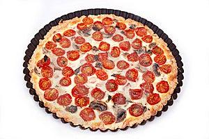 Ham And Tomato Tart Stock Photos - Image: 14024823