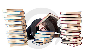 The Girl Reads Books Stock Image - Image: 14025601