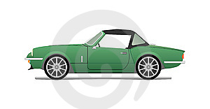 Green Cabriolet Royalty Free Stock Photo - Image: 14030425