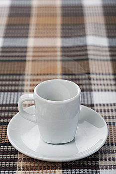Espresso Cup On Tablecloth Royalty Free Stock Photos - Image: 14031288