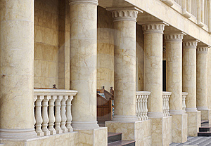 A Porch In The Building Royalty Free Stock Images - Image: 14035009