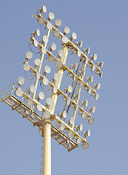 A Close View Of Floodlight Stock Photography - Image: 14035022