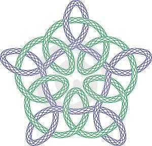 Guilloche Rosette Stock Images - Image: 14035694